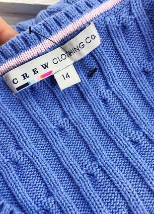 Стильный свитер в косы плотной вязки дорогого бренда crew clothing5