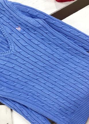 Стильный свитер в косы плотной вязки дорогого бренда crew clothing4