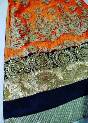 Невероятное восточное платье этно расшито золотом камнями2