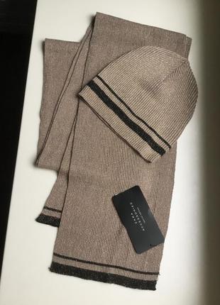 Комплект шапочка +шарфик zara1