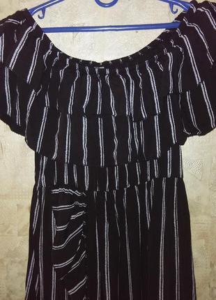 Платье с рюшами1