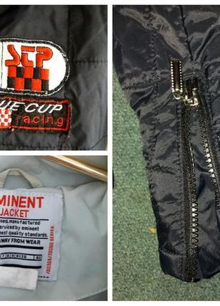 Короткая куртка курточка с капюшоном и нашивками  деми на m-l eminent5 фото