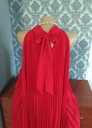 Шикарное новое платье плиссе от f&f, большой размер, батал, uk 20, наш 545