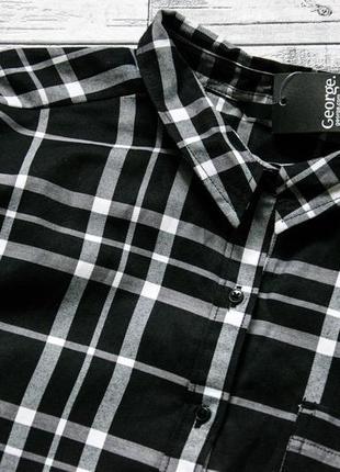 Котоновая рубашка george большой размер3