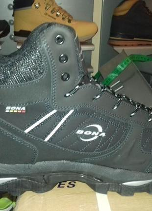 Зимние ботинки мужские bona на меху! натуральный нубук р. 41-46