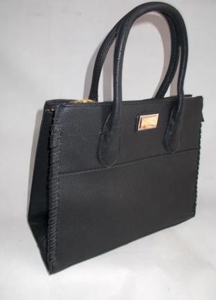 Женская сумка с длинной ручкой 133 черная2