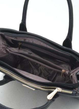 Женская сумка с длинной ручкой 133 черная5