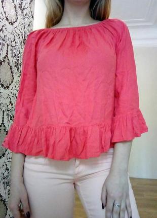 Блуза с расклешенными рукавами1