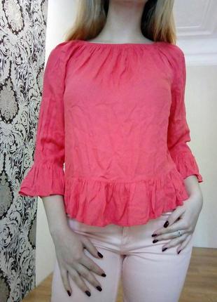 Блуза с расклешенными рукавами2