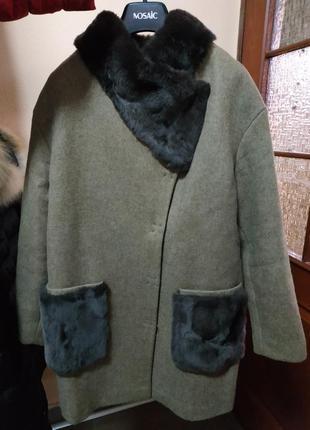 Actors шикарное шерстяное пальто оверсайз m1