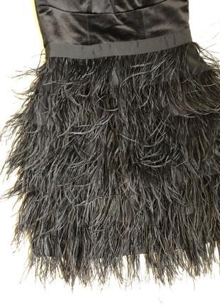 Нарядное платье с перьями2