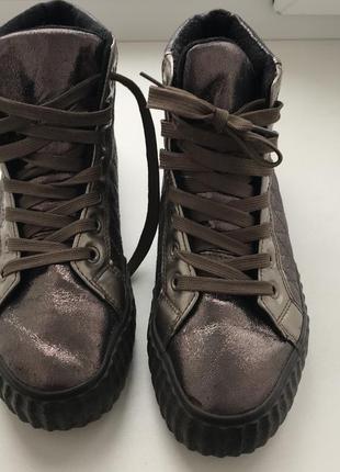 Ботинки зимние розовая бронза4