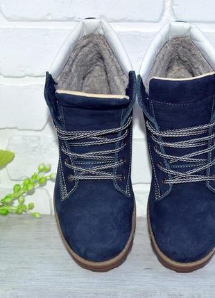 Зимние женские ботинки, натуральный нубук, натуральный мех, р-р 36-412 фото