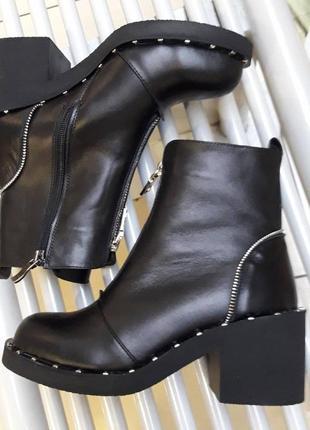 Зимние ботиночки натуральная кожа2