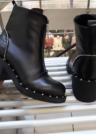 Зимние ботиночки натуральная кожа4