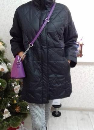 #модная куртка# деми #тепленькая# с красивой прошивной строчкой# большой раз-р.1