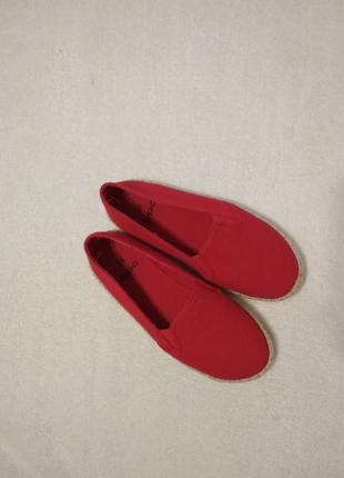Легеньки мокасини, червоні1