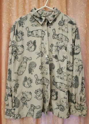 Пижамная кофточка рубашечка для дома с кармашком next р.м1 фото
