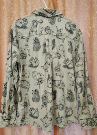 Пижамная кофточка рубашечка для дома с кармашком next р.м4 фото