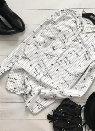Стильная коттоновая рубашка в принт tally weijl1
