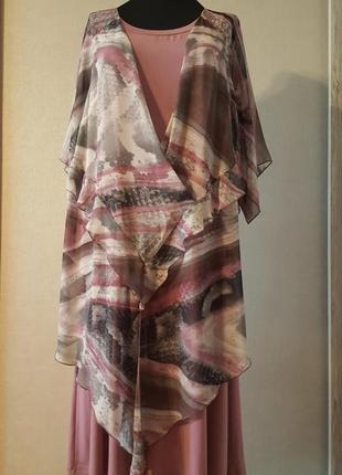 Грязно розовое платье1 фото