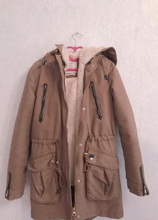 Фирменная стильная, очень теплая парка, куртка1