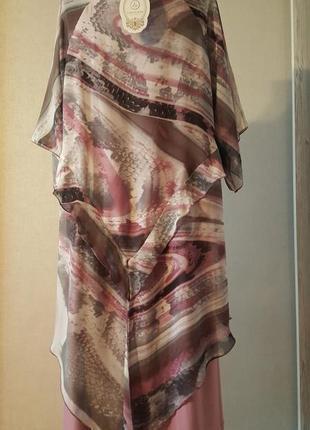 Грязно розовое платье2 фото