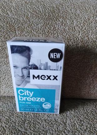Mexx city breeze for him оригинал, новинка, туалетная вода для мужчин, духи, парфюм