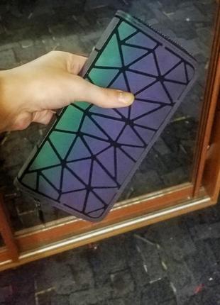 Кошелек геометрия геометрический тренд хамелеон светящийся4