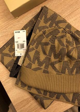 Комплект шапка и шарф michael kors оригинал2