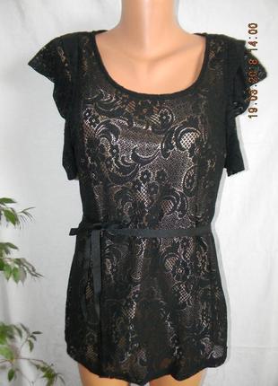 Новая нарядная кружевная блуза george1