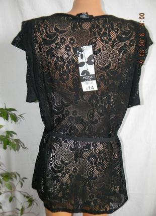 Новая нарядная кружевная блуза george4