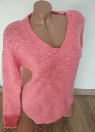 Яркий теплый зимний свитер свитшот hm1 фото