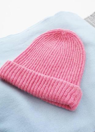 Теплая шапка бинни, beanie 💔3 фото
