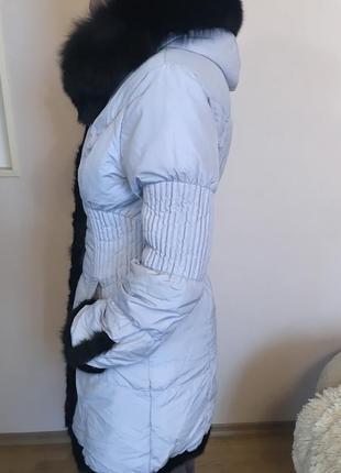 Пуховик обделанный натуральной норкой2
