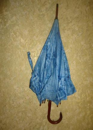 Зонтик princess с деревянной ручкой. раскладной. фирменный.2