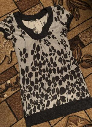 Тёплое платье туника2