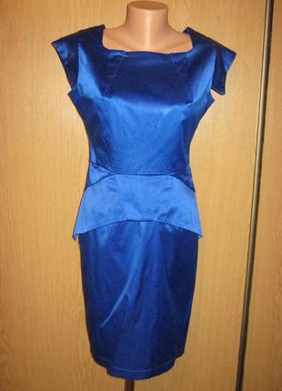 Очень классное платье сине-голубого цвета, р-р 46-481