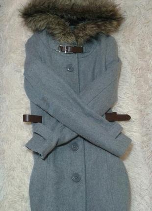 Теплое пальто tally weijl - 34, 155/76а5
