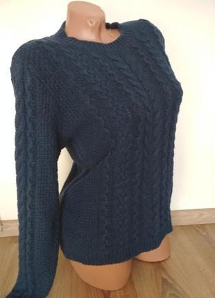 Теплый зимний свитер свитшот hm1