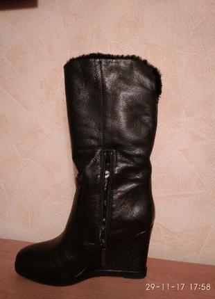 Зимние кожаные сапоги сarlo рazolini (оригинал)1 фото