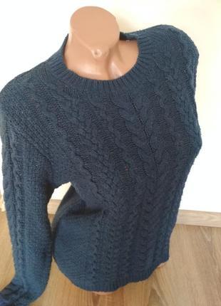 Теплый зимний свитер свитшот hm2