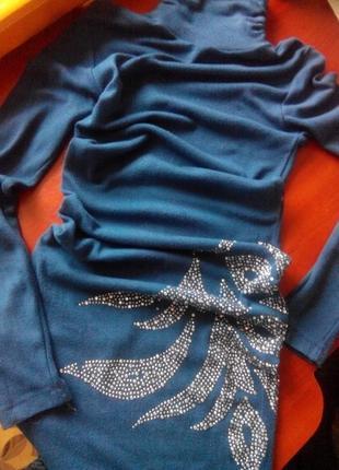 Платье-футляр красивое со стразами s-xs2