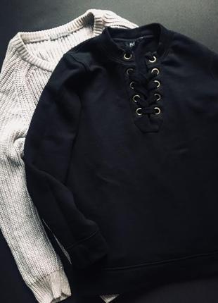 Світшот свитер із шнурівкою 🖤3