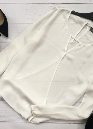 Роскошная белоснежная блуза на запах yessica3