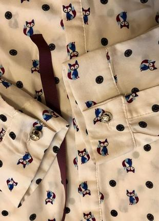 Стильная блуза в лисички4