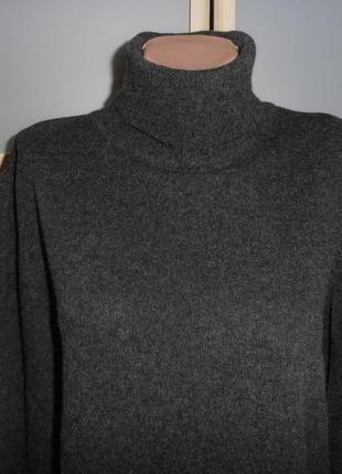 Шерстяной свитер гольф  с кашемиром хл/ххл2