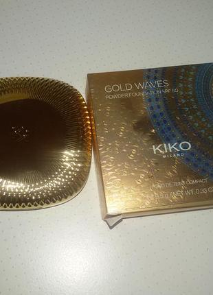 Пудра kiko milano gold waves 09 dark4