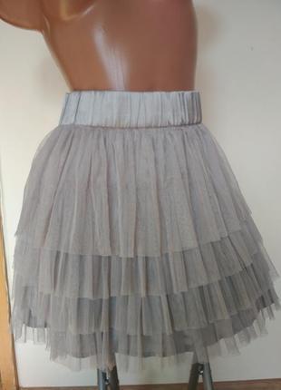 Мини юбка фатин1 фото