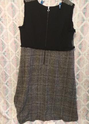 Платье сарафан большой размер 22  теплое3